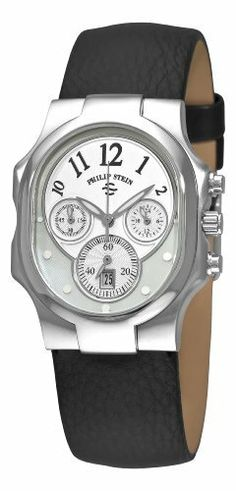 Philip Stein Women's 22-FMOP-CB Classic Chronograph Dial Watch Philip Stein. Save 39 Off!. $367.99. •Quartz movement•Silver dial•Black calfskin strap•Pin buckle•Water-resistant to 99 feet (30 M)