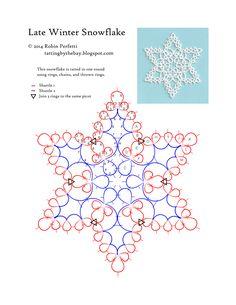 snowflake tatting pattern