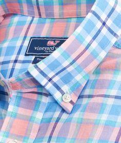 Beachstone Plaid Tucker Shirt