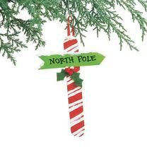 Craft stick North Pole ornament - great for little kids to make!