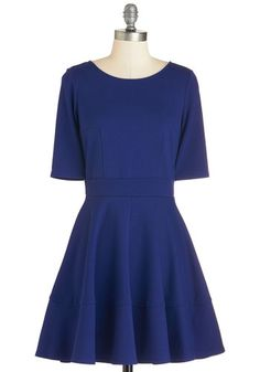 Dote Worry About It Dress in Navy. Treating loved ones to special occasions feels even merrier in this navy-blue dress! #gold #prom #modcloth