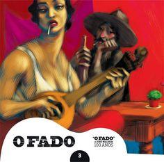 """2012 O Fado de José Malhoa 100 Anos 3 [Tugaland/A Bela e o Monstro] ilustração: Miguel Rocha """"Flores do Mal"""" #albumcover #illustration #fado #music"""