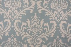 FABRIC Premier Prints Osborne Printed Cotton Drapery Fabric in Village Blue/Natural $7.95 per yard