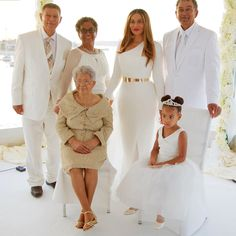 Tina Knowles & family on her wedding day, April 12th 2015