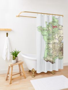 'FRANCE detailed physical map topographic map of FRANCE with Capitals and Major Lakes and Rivers' Shower Curtain by mashmosh France Map, Topographic Map, Rivers, Lakes, Physics, Europe, Curtains, Shower, Rain Shower Heads