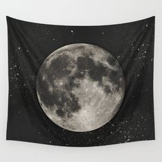 Buy The Moon [Sans Type] Wall Tapestry by Heather Landis. Worldwide shipping available at Society6.com. Just one of millions of high quality products available.