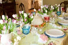 Entertaining Women: Easter, April 1, 2018 Easter 2018, April 1st, Tablescapes, Entertaining, Table Decorations, Spring, Home Decor, Women, Decoration Home