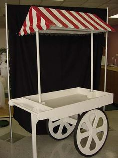 Flower Cart - Maybe we can get this built - or use dessert carts at church (put lots of greenery on to decorate)