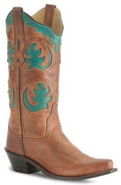 Old West Barnwood Vintage Cowgirl Boot - Snip Toe - Sheplers