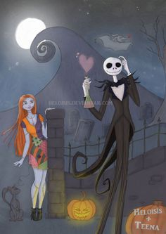 *SALLY & JACK SKELLINGTON ~ The Nightmare Before Christmas