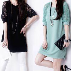 Promotion! 2015 Vestido Solto Women Lace Dress Vestidos Femininos Lantern Sleeve Loose  Hollow Chiffon Sexy Plus Size Dresses
