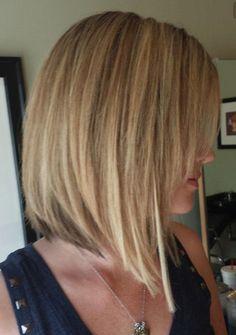 Carré plongeant - coupe cheveux