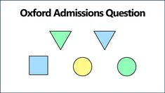 Can you solve this tricky Oxford logic puzzle? Oxford University Admission, Logic Puzzles, Mathematics, Letters, Magic, Youtube, Math, Letter, Lettering