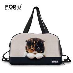 447f31ea04b6 FORUDESIGNS Large Capacity Travel Bags 3D Animal Image