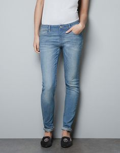 'PUSH UP' JEANS WITH FLAP POCKETS - Trousers - TRF - ZARA Israel