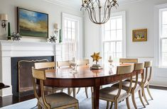 Inside Sue De Chiara's Gorgeous Connecticut Home That's Full-On Fun dining room