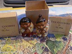 Rare DAM ceramic trolls 1950's ESKIMO JACK & ESKIMO JILL in original BOX & BOOK
