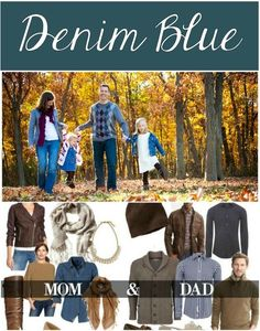 What to wear for fall family pictures #denim #jeans #familyphotos #photography