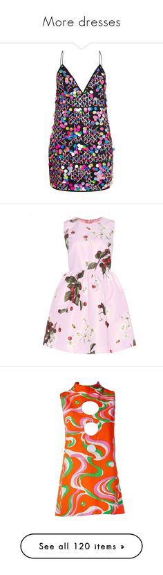 """""""More dresses"""" by ahapplet ❤ liked on Polyvore featuring dresses, shift dresses, sequin embellished dress, sequin cocktail dresses, sequin shift dress, sequined dresses, vestidos, pink, multi-color dresses and red valentino"""