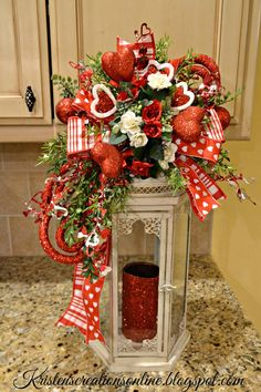 Many of you know that I make these fun lantern swags for different seasons and holidays and now it's time for Valentines! They simply t...