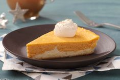 Double-Layer Pumpkin Cheesecake - made with fat free cream cheese.  Substitute GF ginger snaps & I think this would be a perfect gluten free dessert!