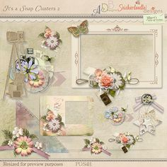 It's A Snap Clusters by #SnickerdoodleDesigns, #ADBDesigns and #JilbertsBitsofBytes.  Round 4 of the #StudioRoundRobin #digitalscrapbooking