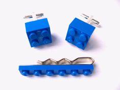 LEGO Cufflinks & Tie Slide Set Includes LEGO Gift by bitsandbadges