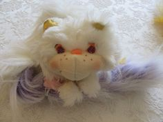 Furrever Friends Kitty Cat Vintage Gold White Powdertail Long Tail Plush Toy #Kenner #FurreverFriends