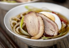 Here's the recipe for Duck and Ramen Sanbai-zu Salad https://asianinspirations.com.au/recipe/duck-ramen-sanbai-zu-salad/