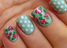 Vintage Rose Nails Tutorial Photo:  This Photo was uploaded by didmynails. Find other Vintage Rose Nails Tutorial pictures and photos or upload your own ...
