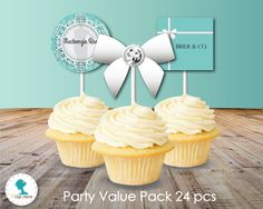 Tiffanys Party Printables Pack $20AUD by The Digi Dame Printable Party Decor thedigidame.com