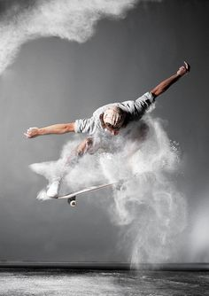 skateboard photo art
