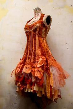 a custom wedding dress for lovely sf artist & designer, Phoenix Zoellick..  .♥