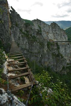 Bridge 150 feet from the ground @ NROC, West Virginia