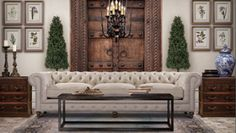 Eye For Design: Decorate With The WHITE CHESTERFIELD SOFA For Elegance /Comfort