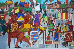Marketplace Jacmel Haiti Painting  - Marketplace Jacmel Haiti Fine Art Print