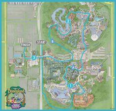 2014 Disneyland 5K Course Map | Disneyland Half Marathon | Running at Disney | #runDisney #DisneylandHalf #DLHalf #Disneyland5K