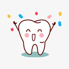 Hand-painted teeth PNG and Clipart Dentist Art, Dentist Humor, Happy Dental, Dental Kids, Dental Quotes, Dental Facts, Tooth Clipart, Dental Pictures, Tooth Cartoon
