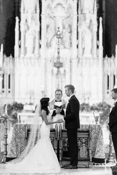 Photography : Jen Dillender Photography | Event Planning : Frosted Fields Events | Ceremony Venue : Holy Family Cathedral Read More on SMP: http://www.stylemepretty.com/2016/10/10/multicultural-catholic-buddhist-wedding/