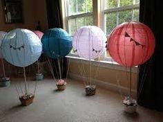 Resultado de imagen para baby shower hot air balloon decorations