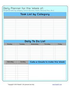 printable weekly planner with priorities | Weekly Priority Checklist & Daily Planner {Free Printable}