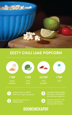 Nomnomnow on these great BOOM recipes! Healthy Popcorn, Healthy Snacks To Make, Popcorn Recipes, Sweets Recipes, Just Desserts, Healthy Eats, Healthy Recipes, Food Tips, Food Hacks