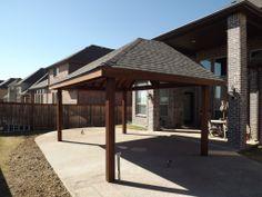 Custom Cedar Pavillion in Trophy Club TX by C3 Backyard Oasis LLC. Check us out at www.c3backyardoasis.com