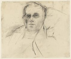 Larry Rivers. Portrait of Edwin Denby. (1953)