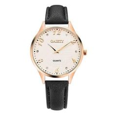 GAIETY Fashion Quartz Wrist Watch Colorful Leather Strap Round Dial Big Digital Watches for Women is hot-sale, stainless steel watch, sport watches for men, and more other cheap mens watches are provided on NewChic. Gold Fashion, Womens Fashion, Ladies Bangles, Cheap Watches For Men, Fashion Watches, Women's Watches, Sport Watches, Mens Watches Leather, Gold Leather