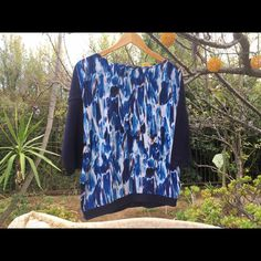 COS silky long sleeve Beautiful patterned long sleeve with 100% Silk front and Rayon back. It will be like fresh air in your closet :) COS Tops Tees - Long Sleeve