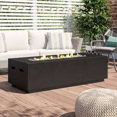 Amazing offer on Huff Concrete Propane Gas Fire Pit Table Brayden Studio online - Premiumtopshopping Fire Pit Coffee Table, Propane Fire Pit Table, Fire Table, Foyers, Furniture Sale, Outdoor Furniture Sets, Outdoor Rooms, Furniture Decor, Outdoor Living