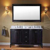 "Found it at Wayfair - Khaleesi 60"" Double Bathroom Vanity Set with Mirror"