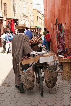 Transporting Goods in Marrakech, Morocco