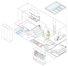 100m3 apartment_http://www.dezeen.com/2013/11/24/tiny-madrid-apartment-by-mycc-with-rooms-connected-by-ladders/